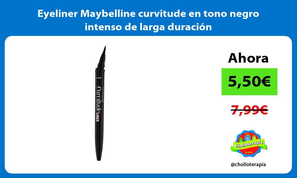 Eyeliner Maybelline curvitude en tono negro intenso de larga duración