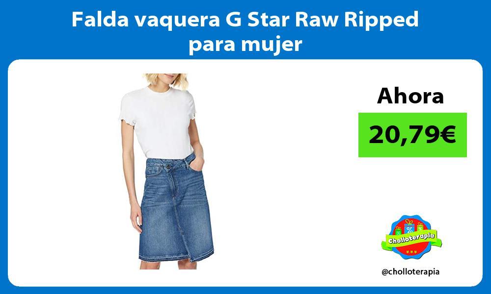 Falda vaquera G Star Raw Ripped para mujer