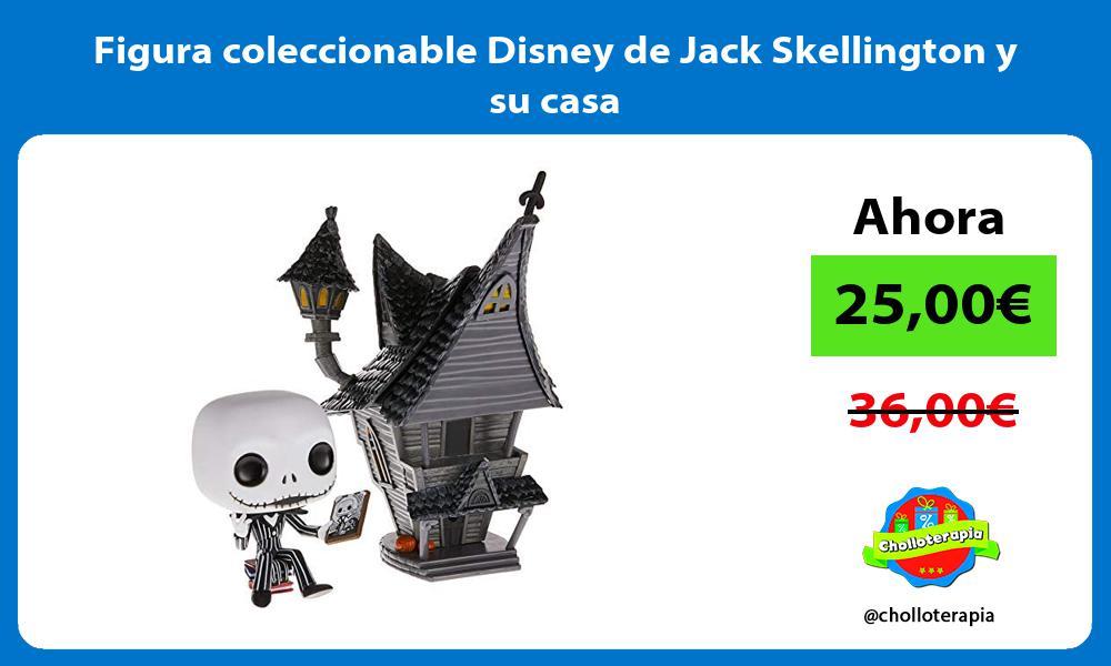 Figura coleccionable Disney de Jack Skellington y su casa