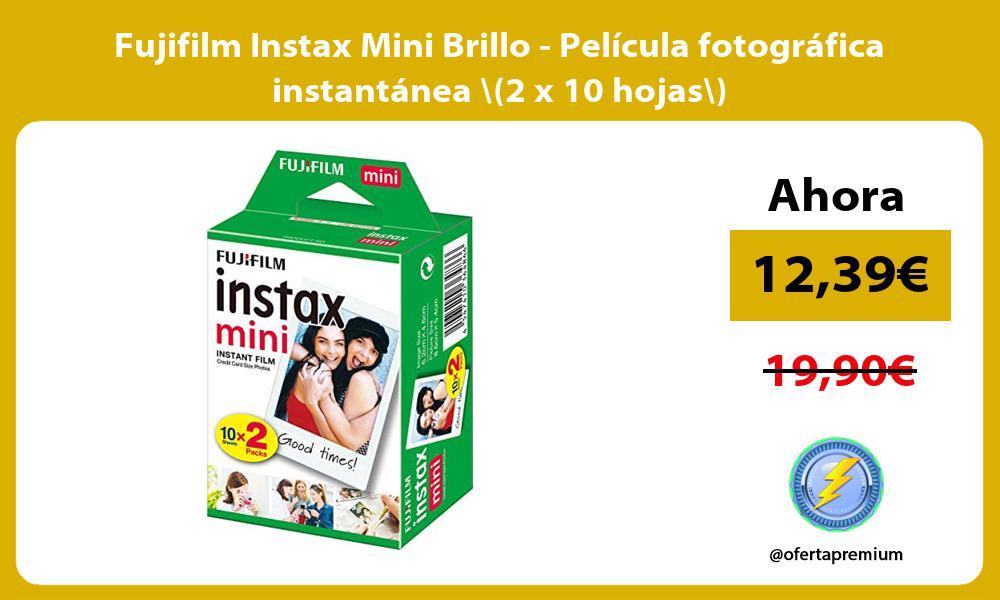 Fujifilm Instax Mini Brillo Película fotográfica instantánea 2 x 10 hojas