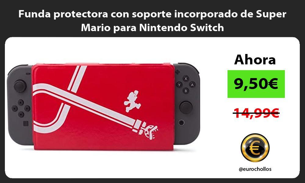 Funda protectora con soporte incorporado de Super Mario para Nintendo Switch
