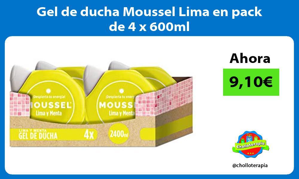 Gel de ducha Moussel Lima en pack de 4 x 600ml