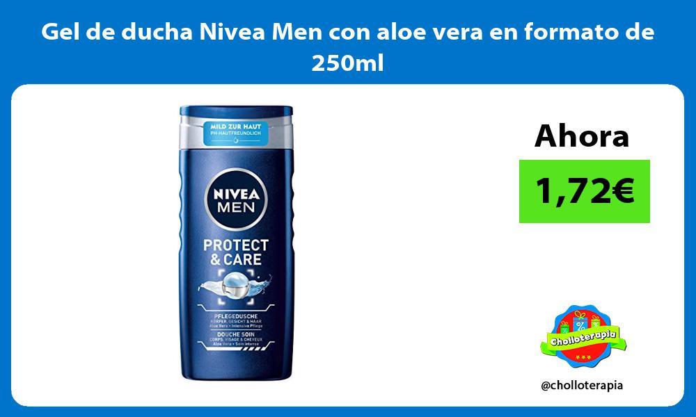 Gel de ducha Nivea Men con aloe vera en formato de 250ml