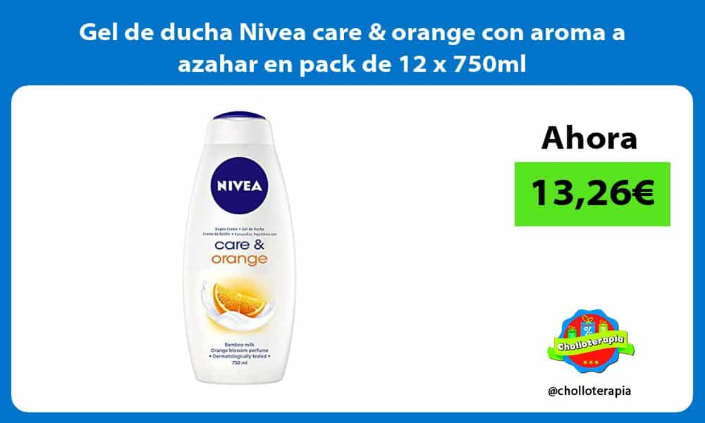 Gel de ducha Nivea care orange con aroma a azahar en pack de 12 x 750ml