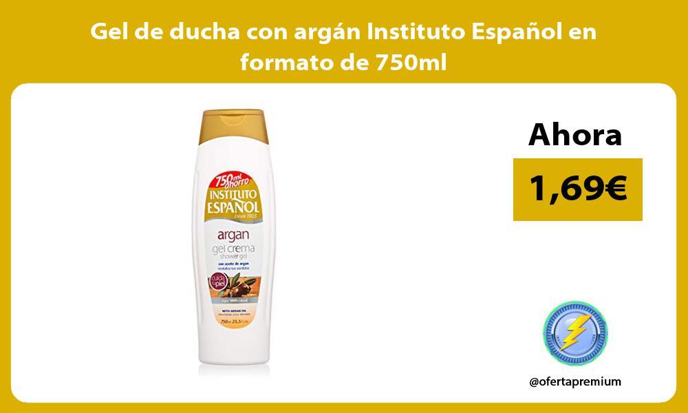 Gel de ducha con argán Instituto Español en formato de 750ml