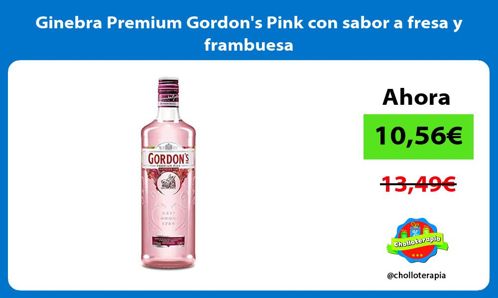 Ginebra Premium Gordons Pink con sabor a fresa y frambuesa