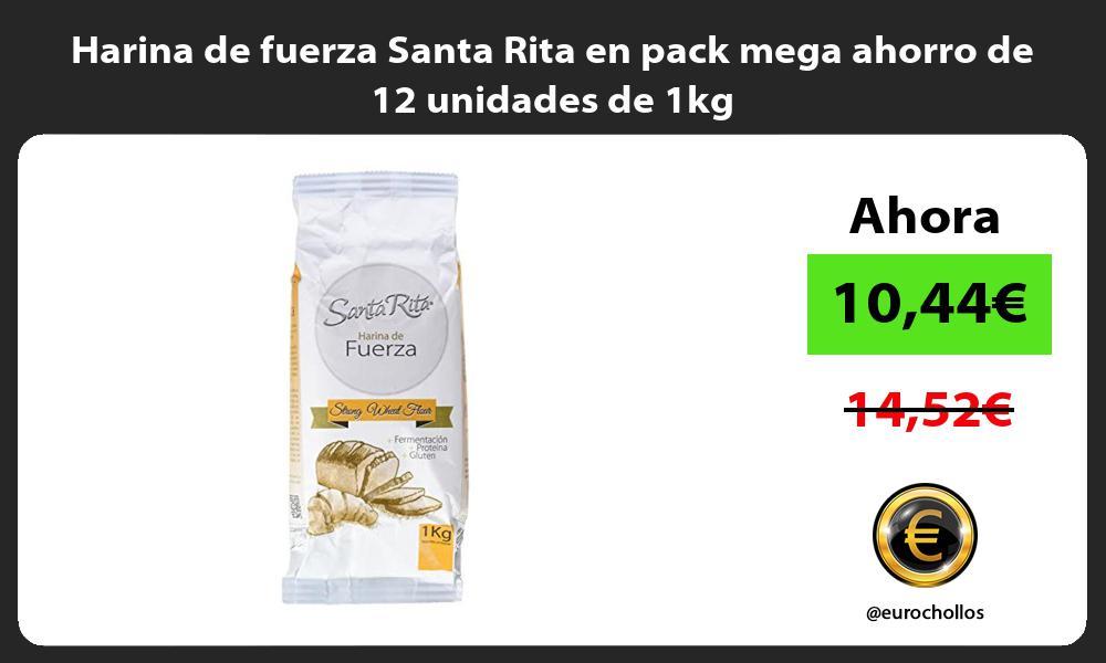 Harina de fuerza Santa Rita en pack mega ahorro de 12 unidades de 1kg