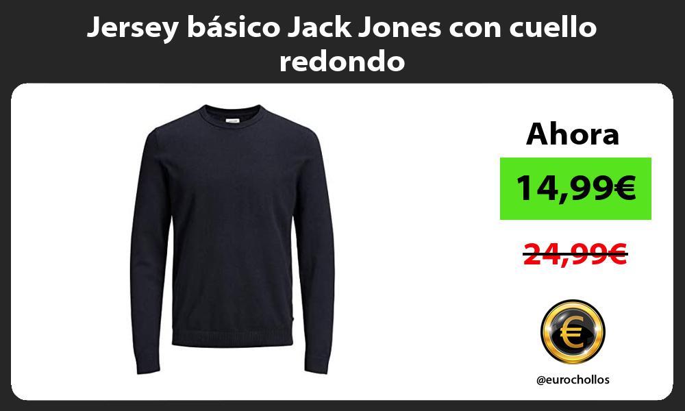 Jersey básico Jack Jones con cuello redondo
