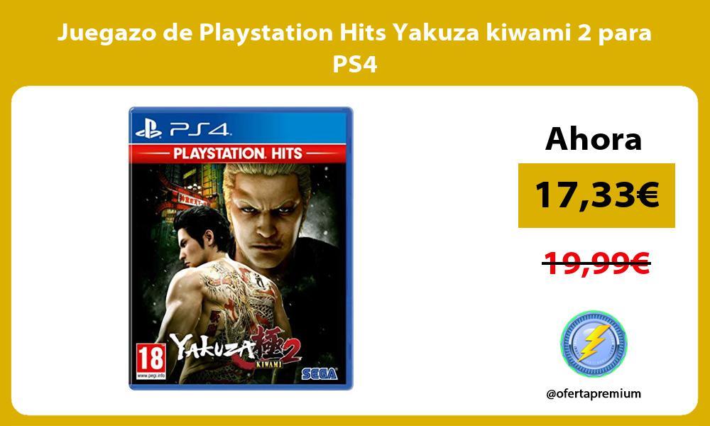 Juegazo de Playstation Hits Yakuza kiwami 2 para PS4