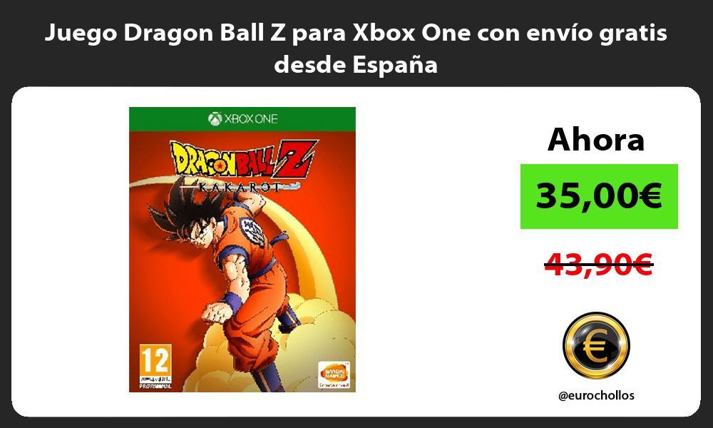 Juego Dragon Ball Z para Xbox One con envio gratis desde Espana