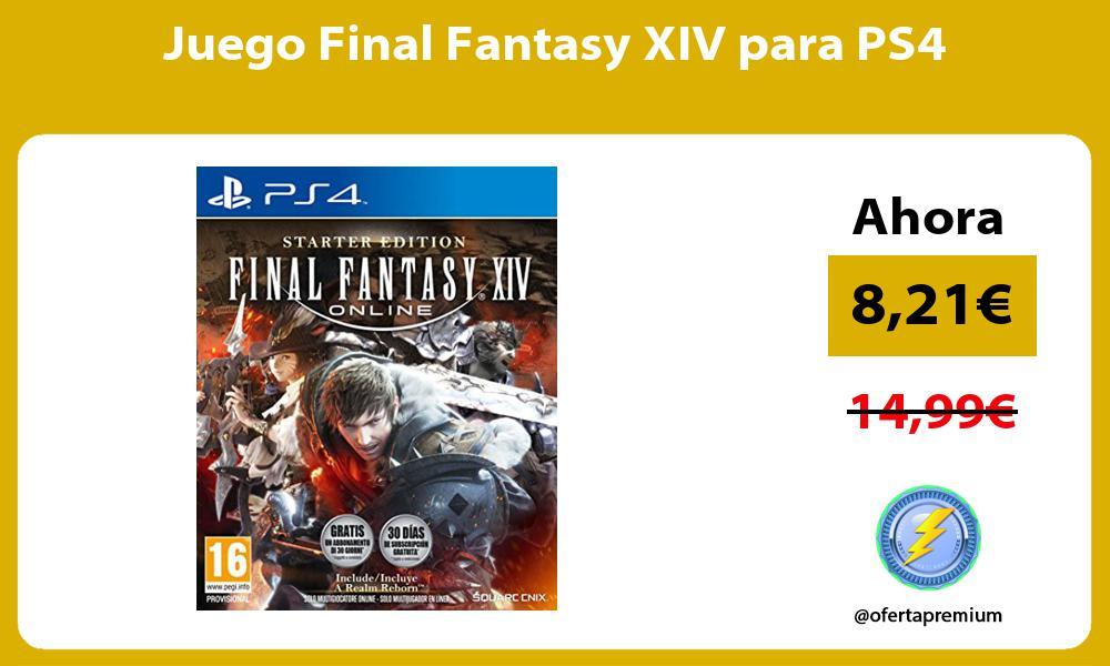 Juego Final Fantasy XIV para PS4