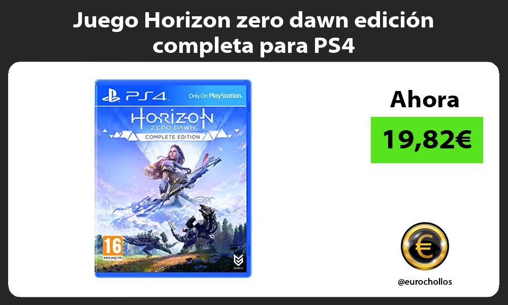 Juego Horizon zero dawn edicion completa para PS4