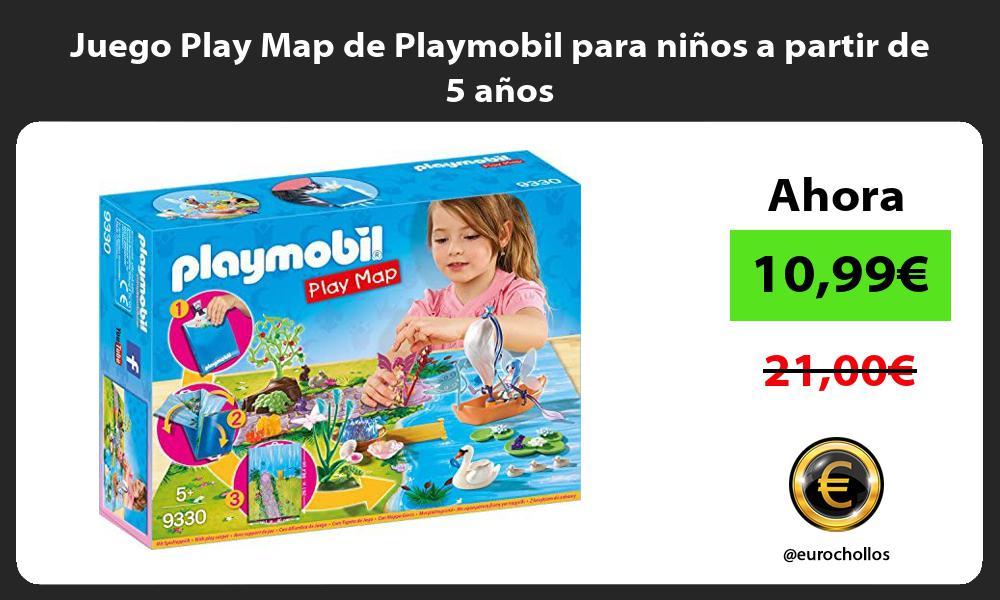 Juego Play Map de Playmobil para ninos a partir de 5 anos