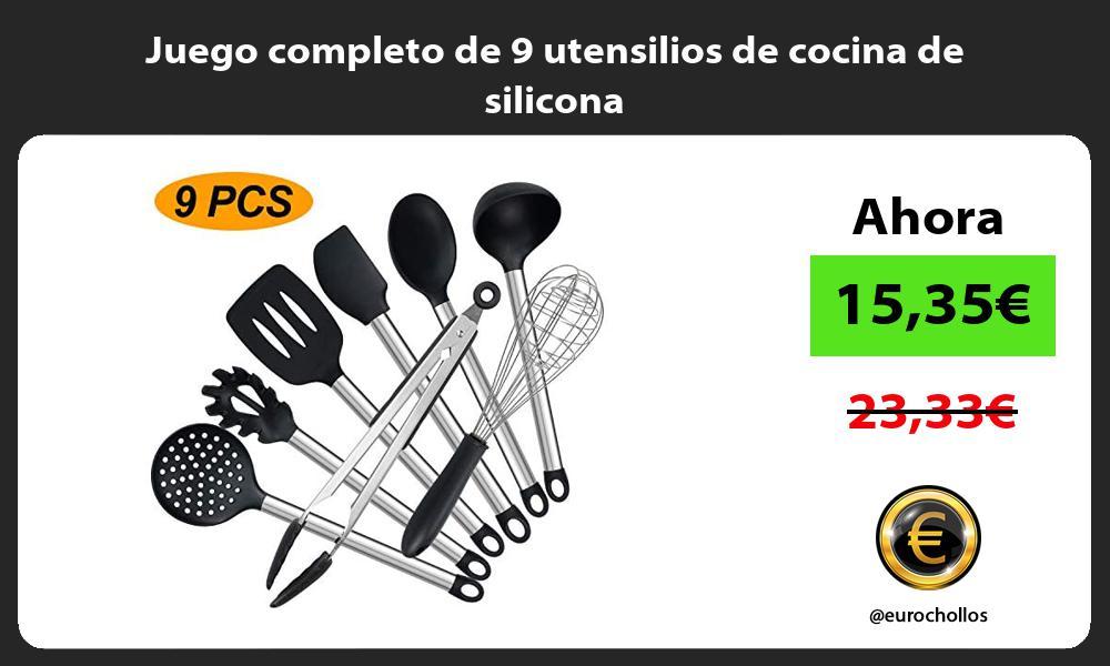 Juego completo de 9 utensilios de cocina de silicona
