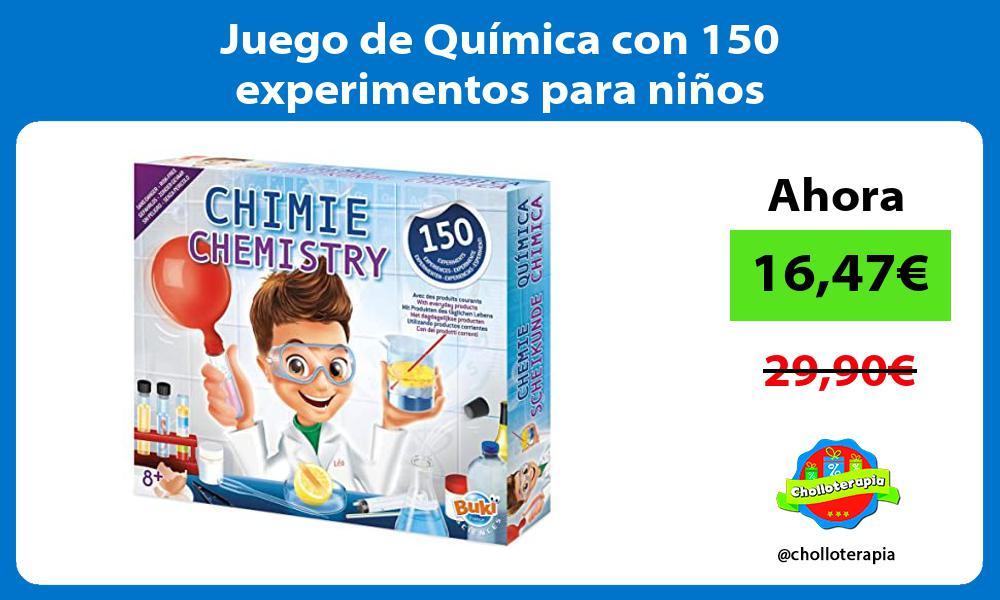 Juego de Química con 150 experimentos para niños