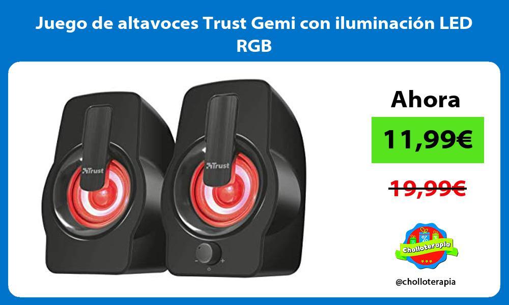 Juego de altavoces Trust Gemi con iluminación LED RGB