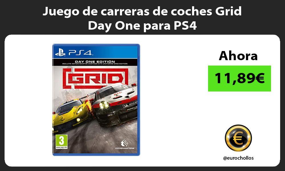 Juego de carreras de coches Grid Day One para PS4