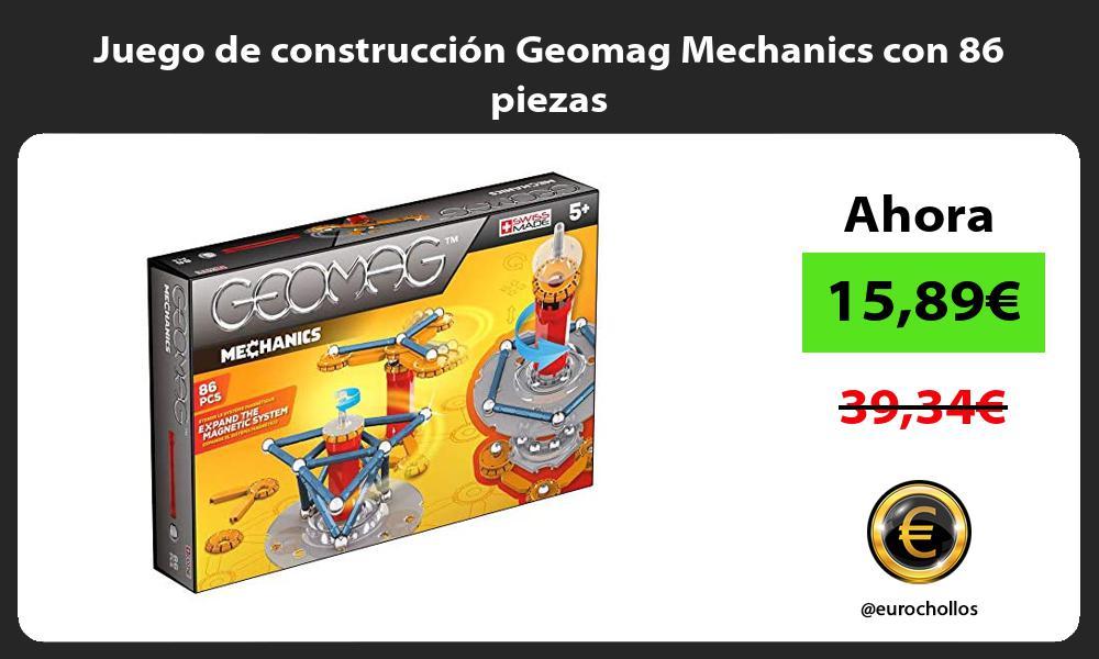 Juego de construcción Geomag Mechanics con 86 piezas