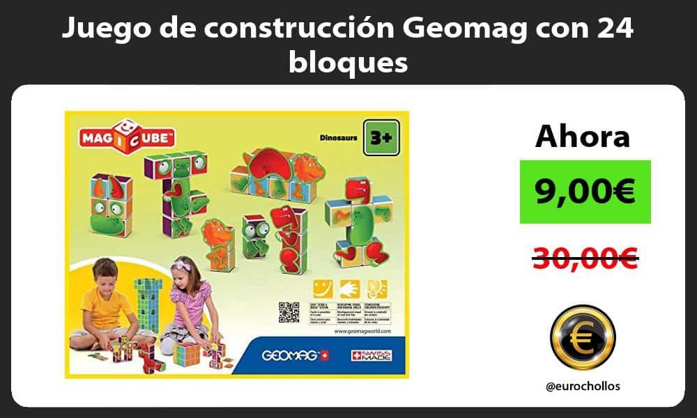 Juego de construcción Geomag con 24 bloques