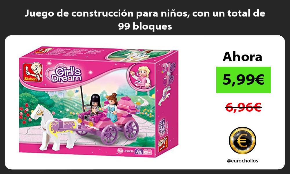 Juego de construccion para ninos con un total de 99 bloques