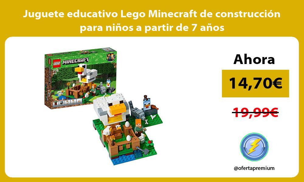 Juguete educativo Lego Minecraft de construcción para niños a partir de 7 años