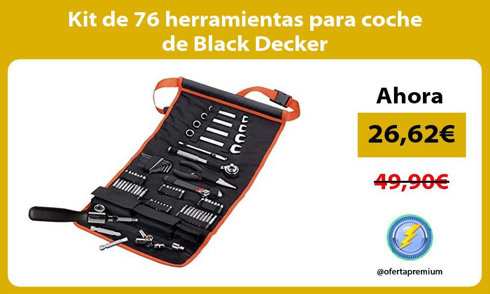 Kit de 76 herramientas para coche de Black Decker