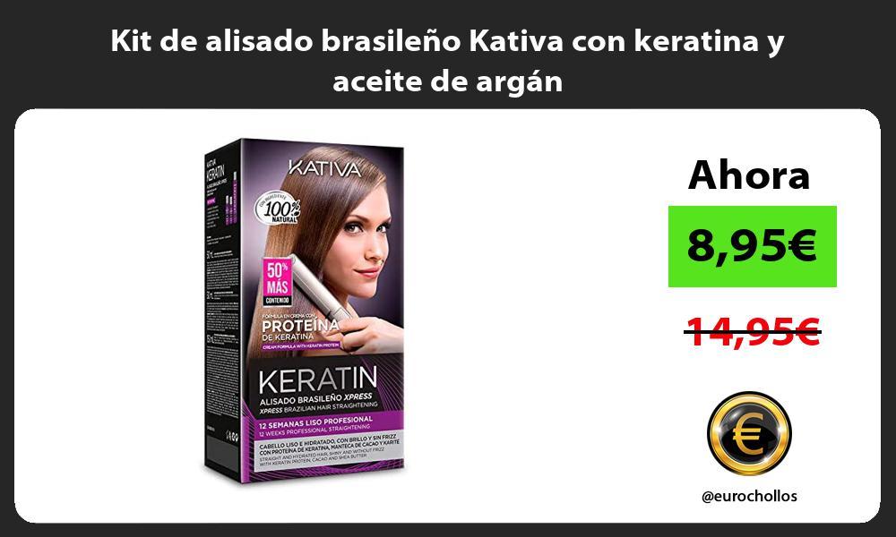 Kit de alisado brasileño Kativa con keratina y aceite de argán