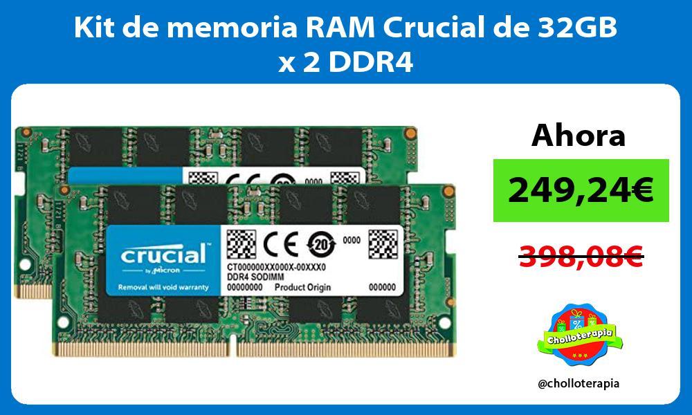 Kit de memoria RAM Crucial de 32GB x 2 DDR4