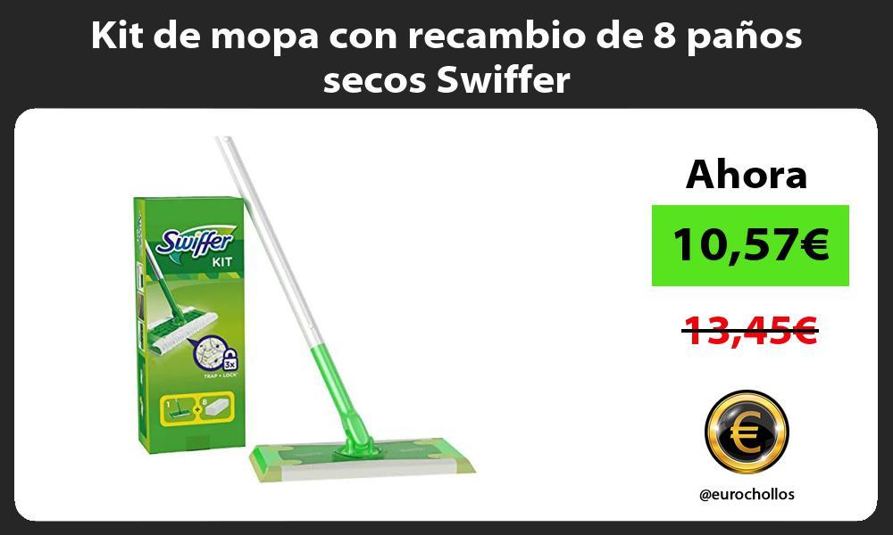 Kit de mopa con recambio de 8 panos secos Swiffer