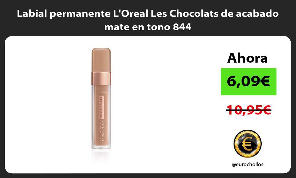 Labial permanente LOreal Les Chocolats de acabado mate en tono 844