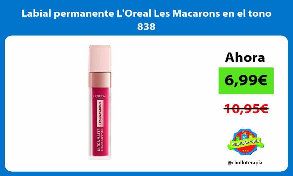 Labial permanente LOreal Les Macarons en el tono 838