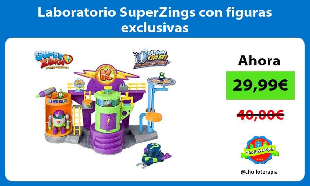 Laboratorio SuperZings con figuras exclusivas