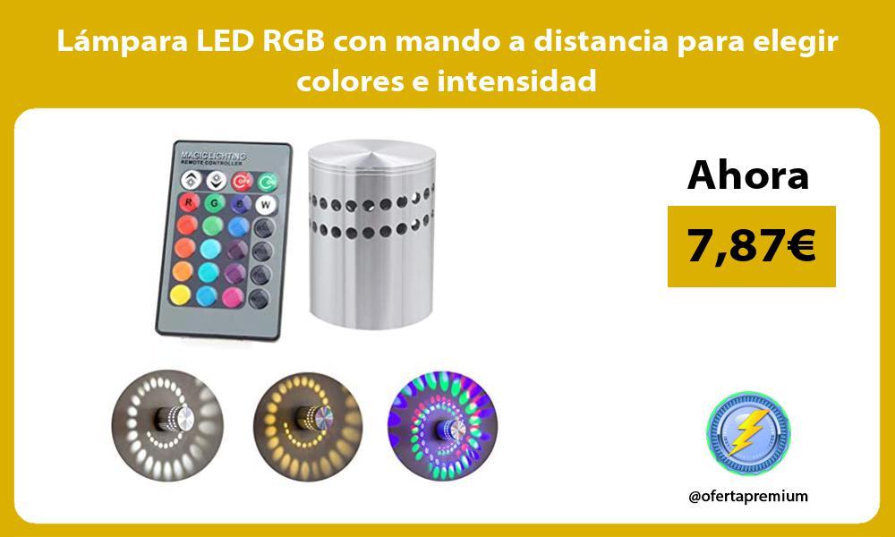 Lampara LED RGB con mando a distancia para elegir colores e intensidad