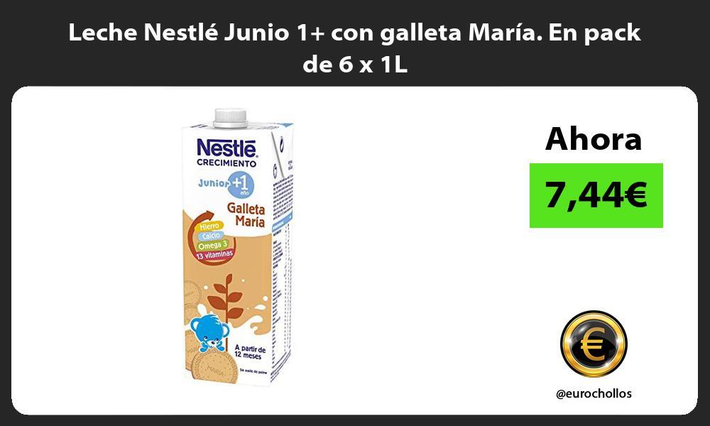 Leche Nestlé Junio 1 con galleta María En pack de 6 x 1L