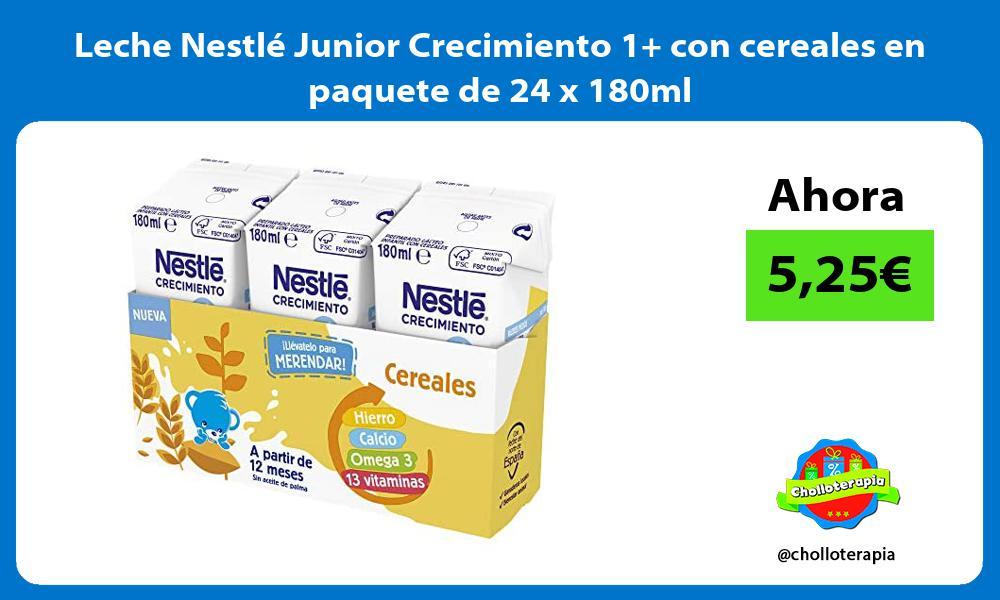 Leche Nestlé Junior Crecimiento 1 con cereales en paquete de 24 x 180ml