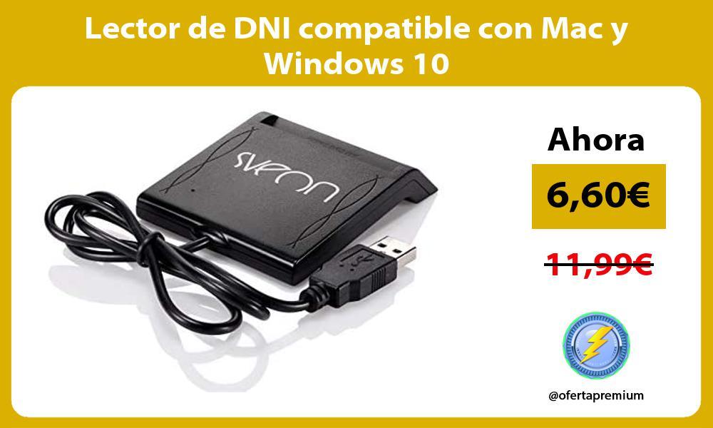 Lector de DNI compatible con Mac y Windows 10