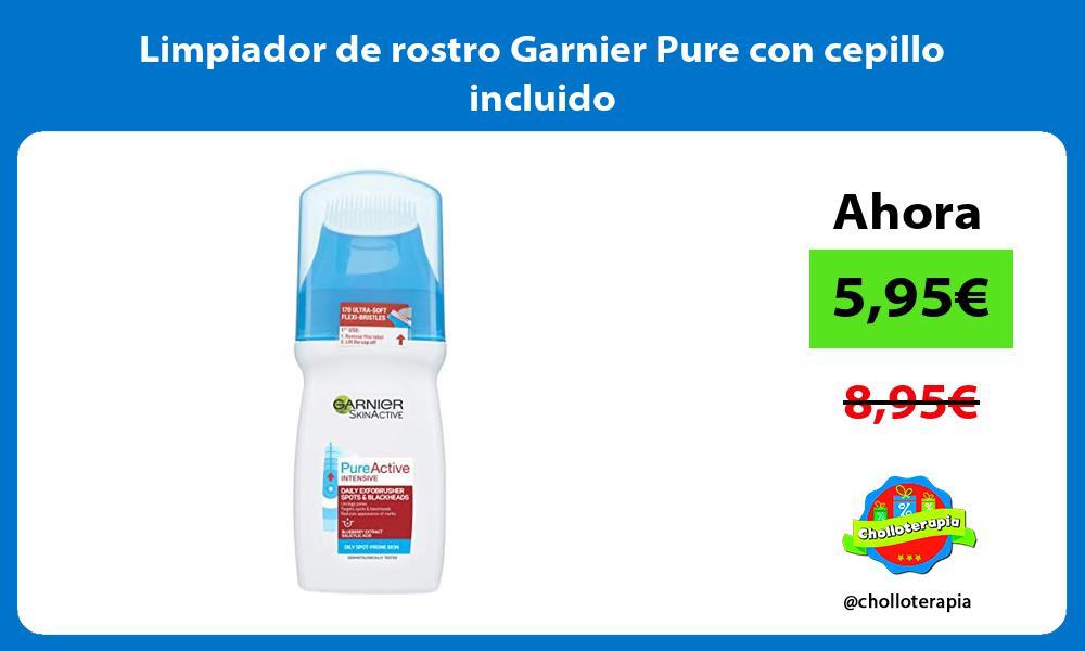 Limpiador de rostro Garnier Pure con cepillo incluido