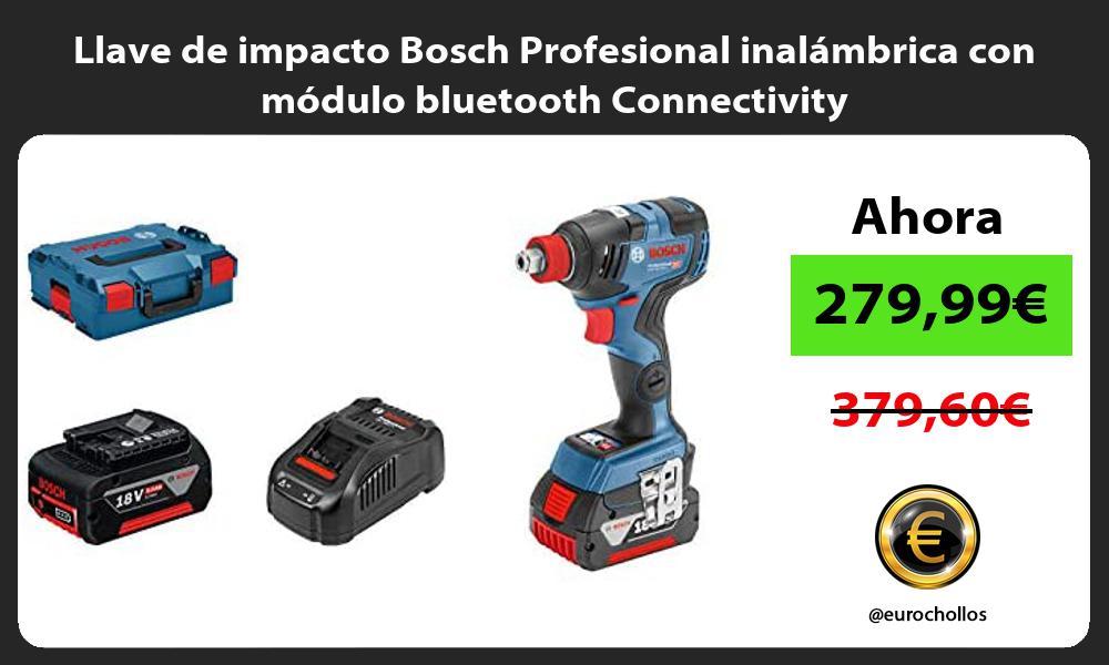 Llave de impacto Bosch Profesional inalámbrica con módulo bluetooth Connectivity