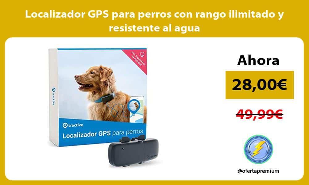 Localizador GPS para perros con rango ilimitado y resistente al agua