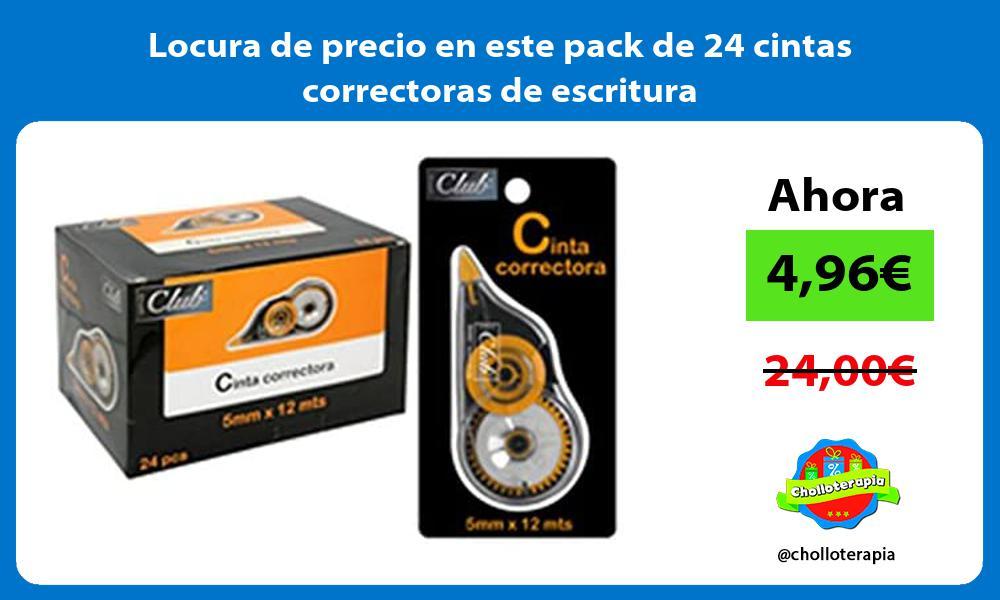 Locura de precio en este pack de 24 cintas correctoras de escritura