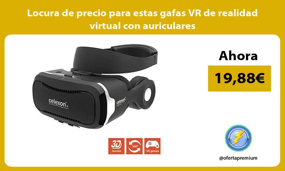 Locura de precio para estas gafas VR de realidad virtual con auriculares
