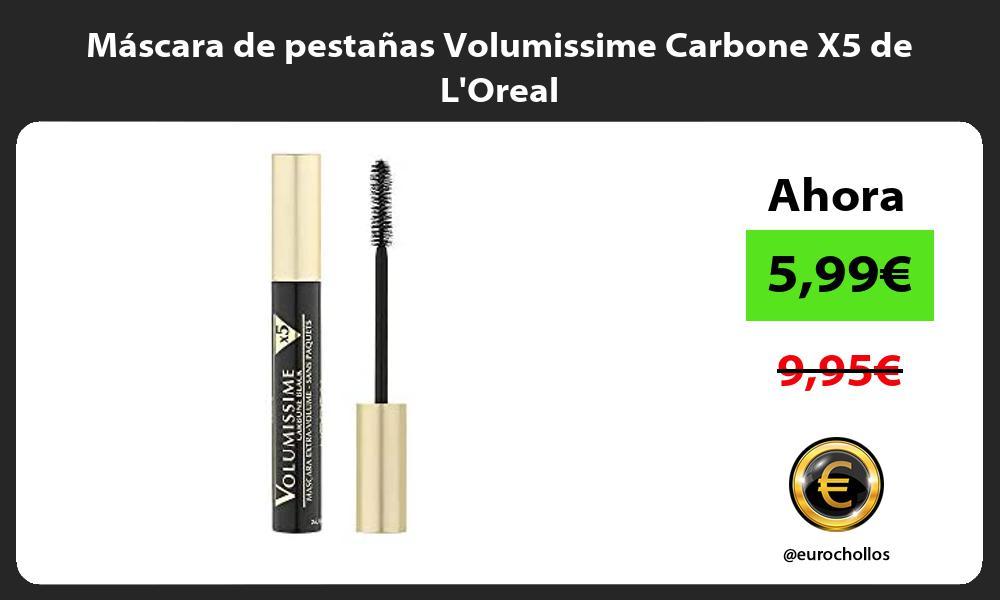 Máscara de pestañas Volumissime Carbone X5 de LOreal
