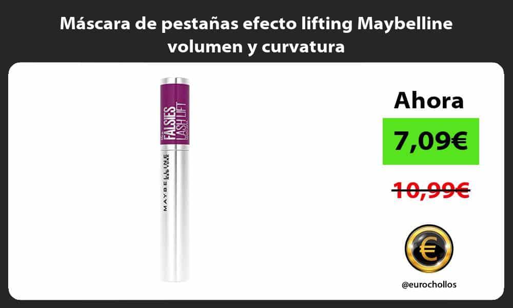 Máscara de pestañas efecto lifting Maybelline volumen y curvatura