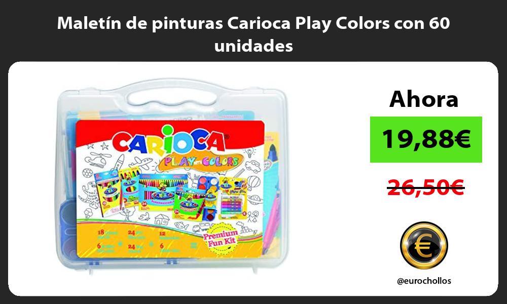 Maletin de pinturas Carioca Play Colors con 60 unidades