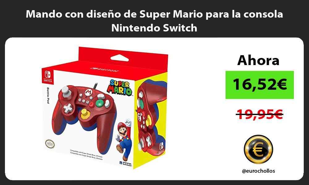 Mando con diseño de Super Mario para la consola Nintendo Switch