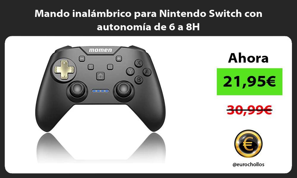 Mando inalámbrico para Nintendo Switch con autonomía de 6 a 8H