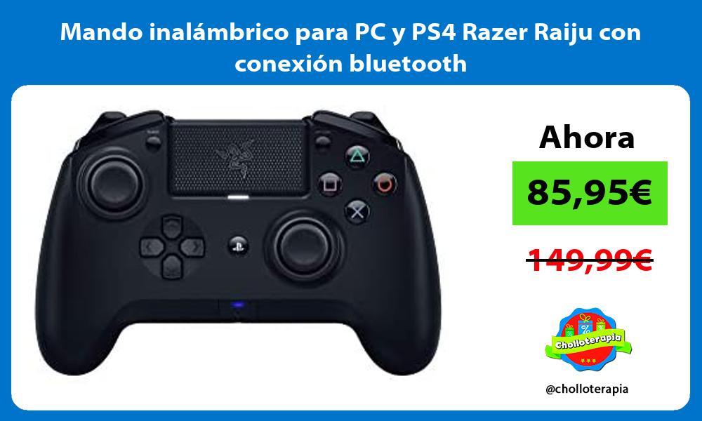 Mando inalámbrico para PC y PS4 Razer Raiju con conexión bluetooth
