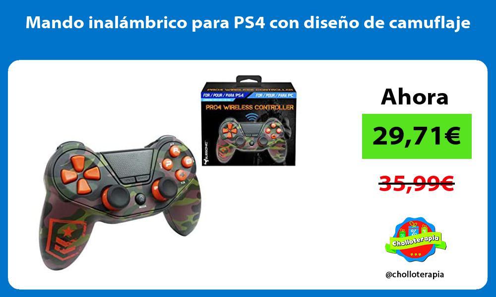 Mando inalámbrico para PS4 con diseño de camuflaje