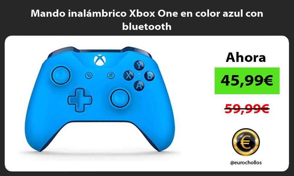 Mando inalambrico Xbox One en color azul con bluetooth