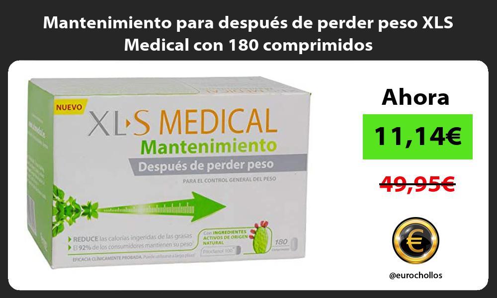 Mantenimiento para después de perder peso XLS Medical con 180 comprimidos